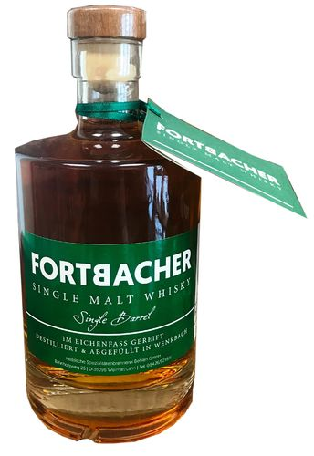Fortbacher Single Malt Whisky, Fass No. 21, 45%vol., 0,5l